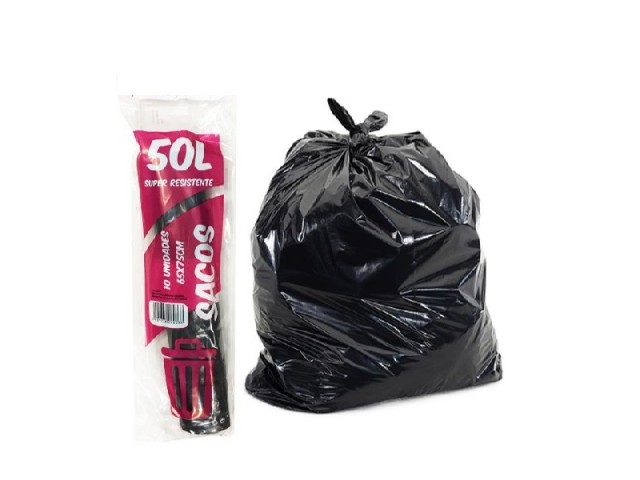 Sacos Lixo 65X  75Cm Pretos...