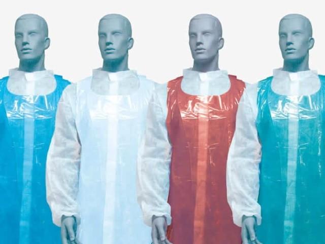 Aventais Plastico Azuis...