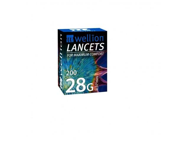 Lancetas 28G Cx200 Wellion