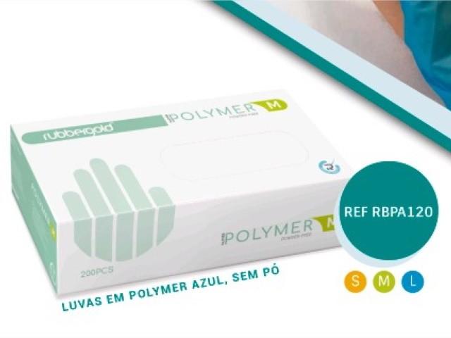 Luvas Polymer Azul Tam M...
